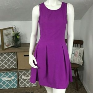Skies Are Blue Bright Purple Flare Dress